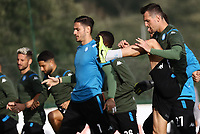 4th November 2019; Castelvolturno training center , Campania, Italy; UEFA Champions League Group Stage Football, Napoli versus Red Bull Salzburg, Napoli Training:Arkadiusz Milik of Naples - Editorial Use