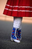 Europe/France/Aquitaine/64/Pyrénées-Atlantiques/Tardets: Groupe de danseurs folklorique basque