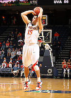 Nov 6, 2010; Charlottesville, VA, USA; Virginia Cavaliers g Billy Baron (15) shoots the ball Saturday afternoon in exhibition action at John Paul Jones Arena. The Virginia men's basketball team recorded an 82-50 victory over Roanoke College.