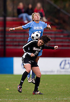 Molly Dreska, Amber Brooks. UNC defeated Maryland, 1-0, during the regular season finale at College Park, Maryland.