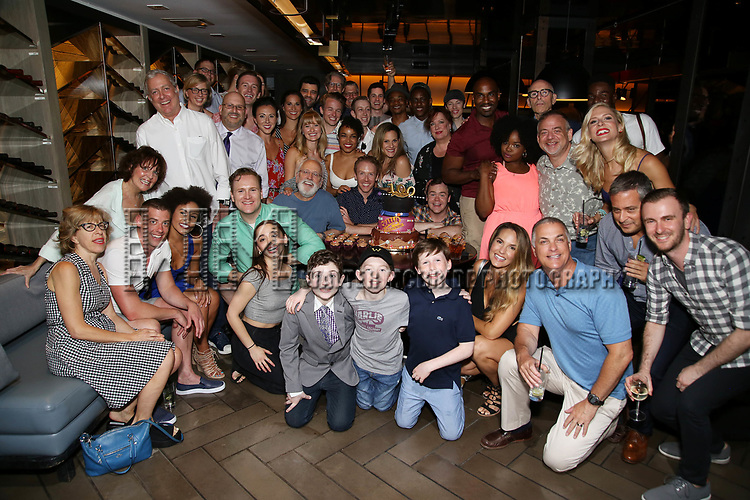 The cast and creative team from 'Charlie and the Chocolate Factory' celebrate 100 performances on Broadway at the Paramount Hotel Bar & Grill on July 19, 2017 in New York City.