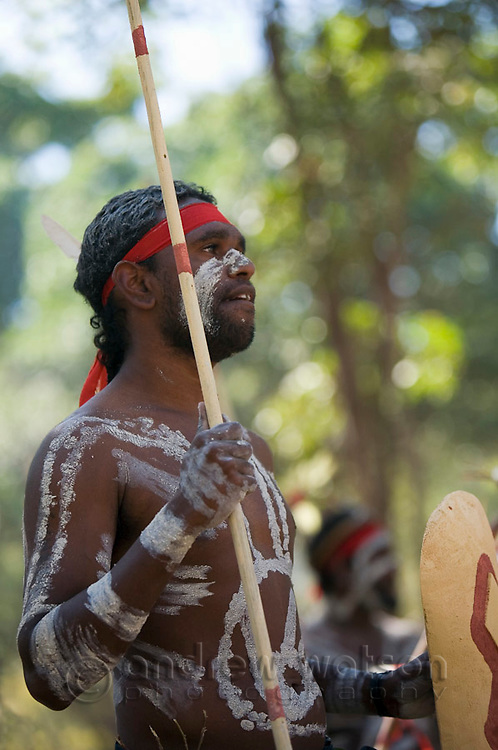 Indigenous dancer from the Yarrabah community at the Laura Aboriginal Dance Festival.  Laura, Queensland, Australia