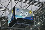 15.04.2018, Veltins-Arena, Gelsenkirchen, GER, 1.FBL, FC Schalke 04 vs Borussia Dortmund, im Bild Endspielstand 2:0 auf der Spielstand-Anzeigetafel<br /> <br /> Foto &copy; nordphoto/Mauelshagen