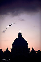 St Peter's Basilica at the Vatican.December 5, 2015.