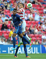 France's Mario Lemina (L) and USA's Luis Gil (R) during their FIFA U-20 World Cup Turkey 2013 Group Stage Group A soccer match France betwen USA at the Turk Telkom Arenain istanbul on June 24, 2013. Photo by Aykut AKICI/isiphotos.com