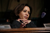 U.S. Senator Kamala Harris (D-CA) listens during a Senate Judiciary Committee confirmation hearing with professor Christine Blasey Ford, who has accused U.S. Supreme Court nominee Brett Kavanaugh of a sexual assault in 1982, on Capitol Hill in Washington, U.S., September 27, 2018. REUTERS/Jim Bourg
