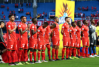 CALI-COLOMBIA, 01-06-2019: Jugadores de América de Cali, durante partido entre América de Cali y Deportivo Pasto, de la fecha 5 de los cuadrangulares semifinales por la Liga Águila I 2019 jugado en el estadio Pascual Guerrero de la ciudad de Cali. / Players of America de Cali, during a match between America de Cali and Deportivo Pasto, of the 5th date of the semifinals quarters for the Aguila Leguaje I 2019 at the Pascual Guerrero stadium in Cali city. Photo: VizzorImage / Nelson Ríos / Cont.