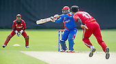 ICC World T20 Qualifier - GROUP B MATCH - Afghanistan v Oman at Heriots CC, Edinburgh - Afghanistan's Mohammad Shazad batting — credit @ICC/Donald MacLeod - 15.07.15 - 07702 319 738 -clanmacleod@btinternet.com - www.donald-macleod.com