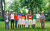 group of amateur riders before The Longines Fegentri Gentlemen Championship at Delaware Park on 7/24/17 Andrea Besana, up