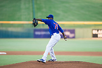 AZL Cubs starting pitcher Alfredo Colorado (75) delivers a pitch to the plate against the AZL Diamondbacks on August 11, 2017 at Sloan Park in Mesa, Arizona. AZL Cubs defeated the AZL Diamondbacks 7-3. (Zachary Lucy/Four Seam Images)