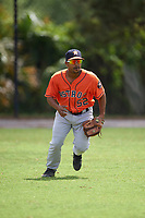 Houston Astros Edwin Medina (52) during practice before a minor league Spring Training game against the Detroit Tigers on March 30, 2016 at Tigertown in Lakeland, Florida.  (Mike Janes/Four Seam Images)