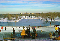St. Louis: Forest Park--Lagoon from Art Hill. Phot0 '77.