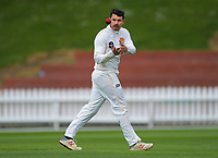 Wellington's Malcolm Nofal on day one of the Plunket Shield cricket match between the Wellington Firebirds and Otago Volts at Basin Reserve in Wellington, New Zealand on Monday, 21 October 2019. Photo: Dave Lintott / lintottphoto.co.nz