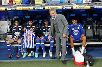ATENCAO EDITOR IMAGENS EMBAGADAS PARA VEICULOS INTERNACIONAIS - <br /> MADRI, ESPANHA, 30 SETEMBRO 2012 - CAMP. ESPANHOL - REAL MADRID X DEPORTIVO LA CORUNA - Jose Mourinho treinador do Real Madrid, durante partida contra Deportivo La Coruna pela sexta rodada do Campeonato Espanhol no Estadio Santiago Bernabeu em Madri capital da Espanha, neste domingo, 30. (FOTO: ALFAQUI / BRAZIL PHOTO PRESS).
