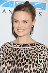 WEST HOLLYWOOD, CA- SEPTEMBER 12: Actress Emily Deschanel attends Mercy For Animals 15th Anniversary Gala at The London on September 12, 2014 in West Hollywood, California.