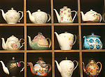Teapot Collection, Agate & Romeo Restaurant, Rome, Italy, Europe