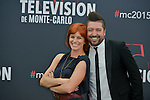 Fauve Hautot and Chris Marques poses at a photocall for the TV series 'Dance with the star' during the 55th Monte Carlo TV Festival on June 13, 2015 in Monte-Carlo, Monaco
