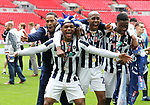 Millwall's players celebrate during the League One Play-Off Final match at Wembley Stadium, London. Picture date: May 20th, 2017. Pic credit should read: David Klein/Sportimage