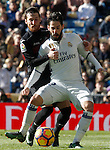 Real Madrid's Isco Alarcon (r) and Granada CF's Tito Roman during La Liga match. January 7,2016. (ALTERPHOTOS/Acero)