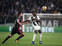 Calcio, Serie A: Juventus - Caglairi, Turin, Allianz Stadium, November 3, 2018.<br /> Juventus' Blaise Matuidi (r) in action with Cagliari's Artur Ionita (l) during the Italian Serie A football match between Juventus and Cagliari at Torino's Allianz stadium, November 3, 2018.<br /> UPDATE IMAGES PRESS/Isabella Bonotto