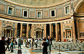 """Rome, Italy - April 4, 2006 -- Interior of the Pantheon the Roman """"temple of all the gods"""" in Rome, Italy on Tuesday, April 4, 2006.  The Pantheon is the best preserved of all of Rome's ancient building.  It is believed to have been built in the first century AD by the Emperor Hadrian..Credit: Ron Sachs / CNP"""