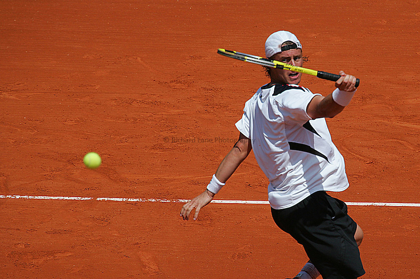 Photo: Iconsport/Richard Lane Photography..French Open, Roland Garros 2007. 31/05/2007..Lleyton Hewitt volleys.