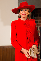 La reine Mathilde de Belgique au Parlement hollandais de La Haye.<br /> Pays-Bas, La Haye, 28 novembre 2016.<br /> Queen Mathilde of Belgium at the 'Binnenhof' governmental building complex in The Hague, on the second day of a three-day State visit of the Belgian royal couple to The Netherlands.<br /> Netherlands, The Hague, 29 November