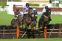 Winner of The That Friday-Ad Feeling Maiden Hurdle Calva D'Auge ridden by Harry Cobden and trained by Paul Nicholls during Horse Racing at Plumpton Racecourse on 4th November 2019