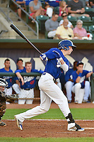 Brian Wolfe (30)  of the Ogden Raptors at bat against the Missoula Osprey in Pioneer League action at Lindquist Field on August 4, 2014 in Ogden, Utah.  (Stephen Smith/Four Seam Images)