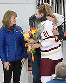 Danika Bender, Lexi Bender (BC - 21), Buddy Bender - The Boston College Eagles defeated the visiting Providence College Friars 7-1 on Friday, February 19, 2016, at Kelley Rink in Conte Forum in Boston, Massachusetts.