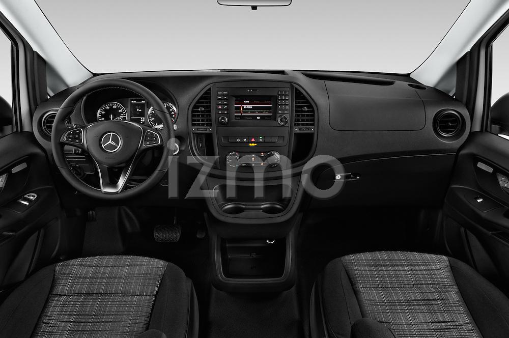Stock photo of straight dashboard view of 2016 Mercedes Benz Metris Cargo-Van 4 Door Cargo Van Dashboard