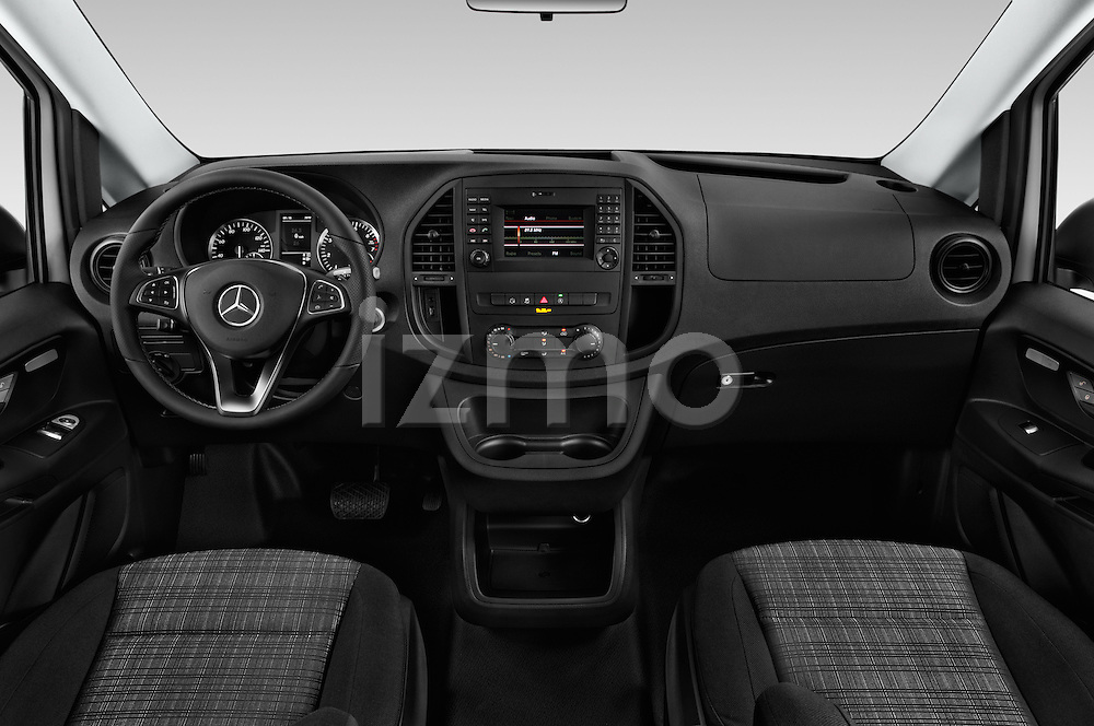 Stock photo of straight dashboard view of 2018 Mercedes Benz Metris Cargo-Van 4 Door Cargo Van Dashboard