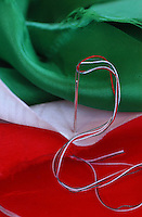 Bandiera italiana da ricucire. Italian flag patch.......