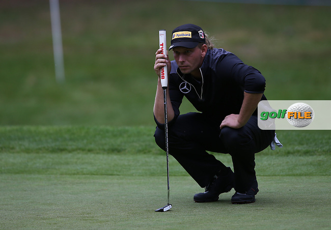 Marcel Siem (GER) pushed for the lead with 8 birdies before rain suspended play during Round One of the BMW PGA Championship from Wentworth Golf Club, Virginia Waters, London, UK. Picture:  David Lloyd / www.golffile.ie