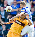 MOTHERWELL'S MICHAEL HIGDON  GETS A SMELL OF RANGERS' DORIN GOIAN'S UNDERARM