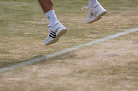 London, England, 7 th July, 2017, Tennis,  Wimbledon,  The terrible condition of the grass on court seven<br /> Photo: Henk Koster/tennisimages.com