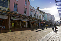 Pictured: Stepney Street, Llanelli. Wednesday 09 March 2018<br /> Re: The effect that the Scarlets RFC has had in the town of Llanelli in Carmarthenshire and the west Wales region.