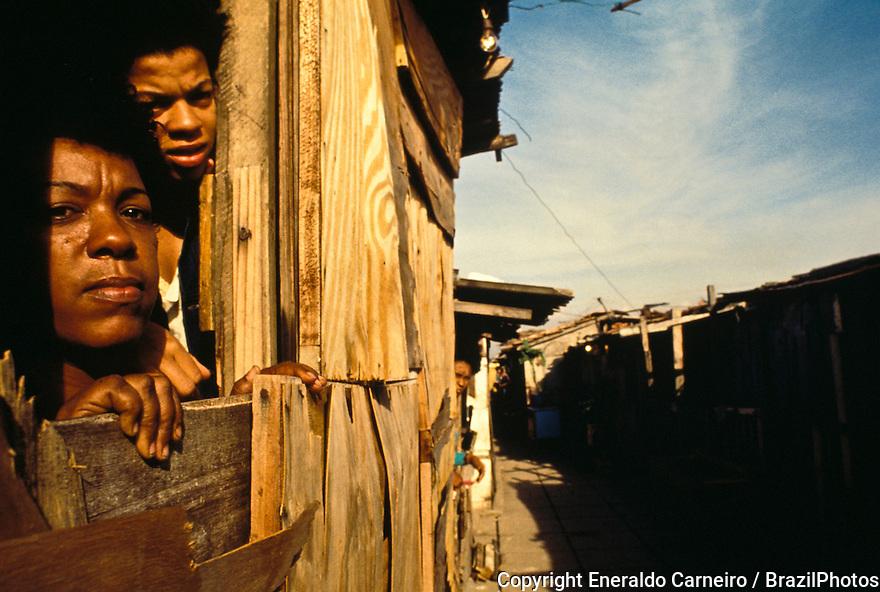 Housing, Rio de Janeiro favela, Brazil.