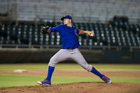 AZL Cubs relief pitcher Faustino Carrera (97) delivers a pitch to home plate during Game Three of the Arizona League Championship Series against the AZL Giants on September 7, 2017 at Scottsdale Stadium in Scottsdale, Arizona. AZL Cubs defeated the AZL Giants 13-3 to win the series two games to one. (Zachary Lucy/Four Seam Images)