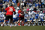 2013 March 02: Charlie Raffa #7 of the Maryland Terrapins during a game against the Duke Blue Devils at Koskinen Stadium in Durham, NC.  Maryland won 16-7.