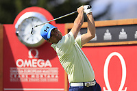 Felipe Aguilar (CHI) tees off the 16th tee during Thursday's Round 1 of the 2017 Omega European Masters held at Golf Club Crans-Sur-Sierre, Crans Montana, Switzerland. 7th September 2017.<br /> Picture: Eoin Clarke | Golffile<br /> <br /> <br /> All photos usage must carry mandatory copyright credit (&copy; Golffile | Eoin Clarke)