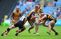 Mitch Eadie of Bristol Rugby takes on the Wasps defence. Aviva Premiership match, between Wasps and Bristol Rugby on September 18, 2016 at the Ricoh Arena in Coventry, England. Photo by: Patrick Khachfe / JMP