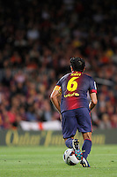 02/09/2012 - Liga Football Spain, FC Barcelona vs. Valencia CF Matchday 3 - Xavi, spanish midfield player and captain of FC Barcelona