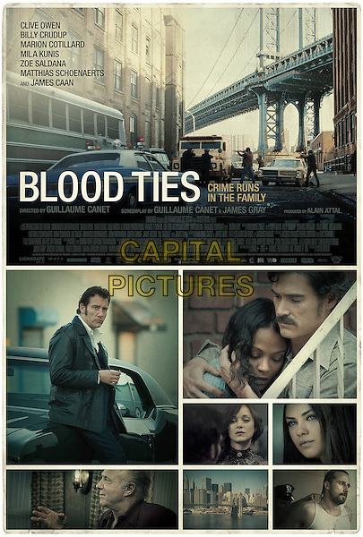 POSTER ART<br /> in Blood Ties (2013) <br /> *Filmstill - Editorial Use Only*<br /> CAP/FB<br /> Image supplied by Capital Pictures
