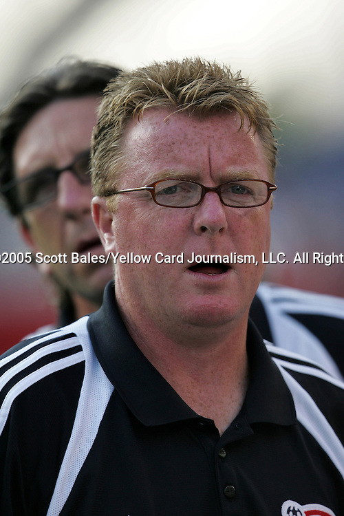 16 July 2005: New England Revolution head coach Steve Nicol. The New England Revolution defeated FC Dallas 3-2 at Gillette Stadium in Foxboro, Massachusetts in a Major League Soccer regular season match.