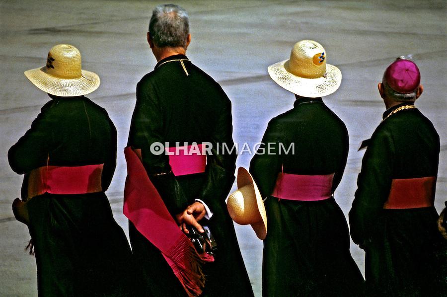 Bispos da igreja católica. Brasília. 1980. Foto de Juca Martins.