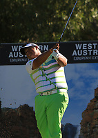 Kiradech Aphibarnrat (THA) in action on the 5th during the Matchplay Final of the ISPS Handa World Super 6 Perth at Lake Karrinyup Country Club on the Sunday 11th February 2018.<br /> Picture:  Thos Caffrey / www.golffile.ie<br /> <br /> All photo usage must carry mandatory copyright credit (&copy; Golffile | Thos Caffrey)