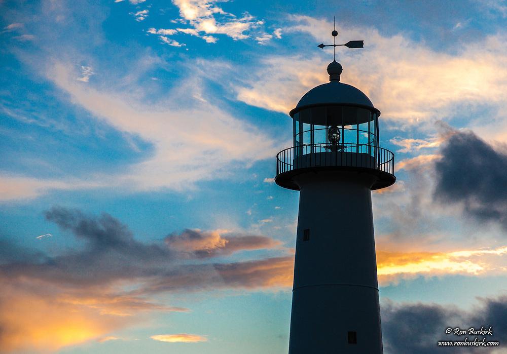 Biloxi Lighthouse At Sunset Ron Buskirk Photography