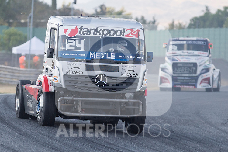 German driver Andre Kursim belonging German team Tankpool 24 Racingduring the fist race R1 of the XXX Spain GP Camion of the FIA European Truck Racing Championship 2016 in Madrid. October 01, 2016. (ALTERPHOTOS/Rodrigo Jimenez)