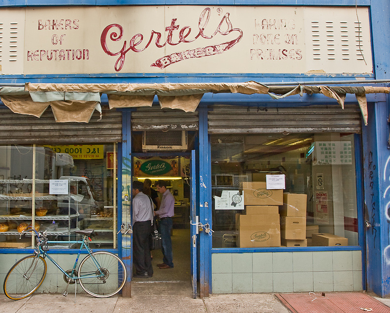 Real estate values trump tradition as Gertel's, a legendary Jewish bakery, closes after more than 90 years on site. Moves to Brooklyn.